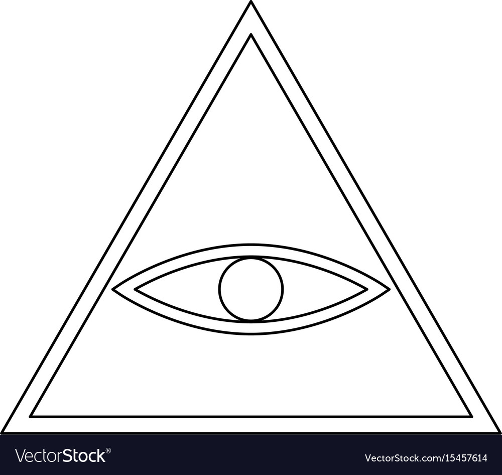 All seeing eye symbol the black color icon