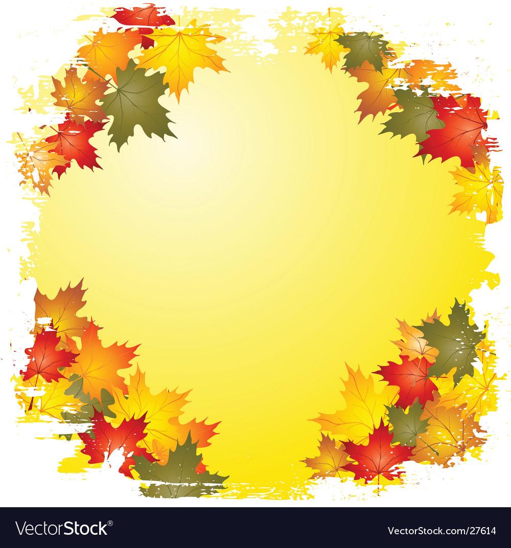 autumn leaf boarder royalty free vector image vectorstock