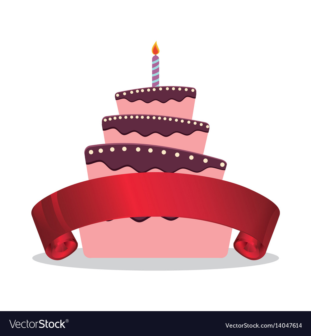 Surprising Cake Birthday Candle And Red Ribbon Royalty Free Vector Funny Birthday Cards Online Inifofree Goldxyz