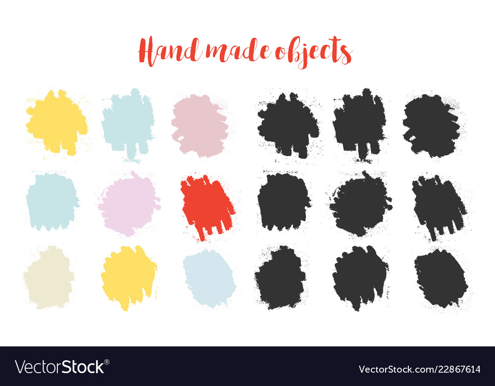 Color brush splash drawn elements