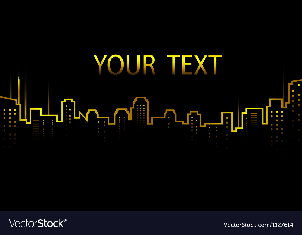 Dark background with city skyline and skyscrapers vector image