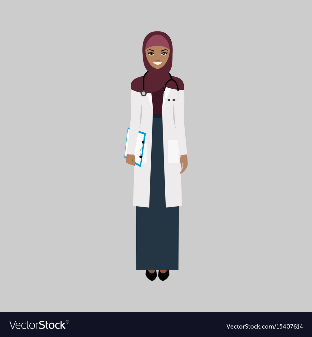 Female character of infectiologist