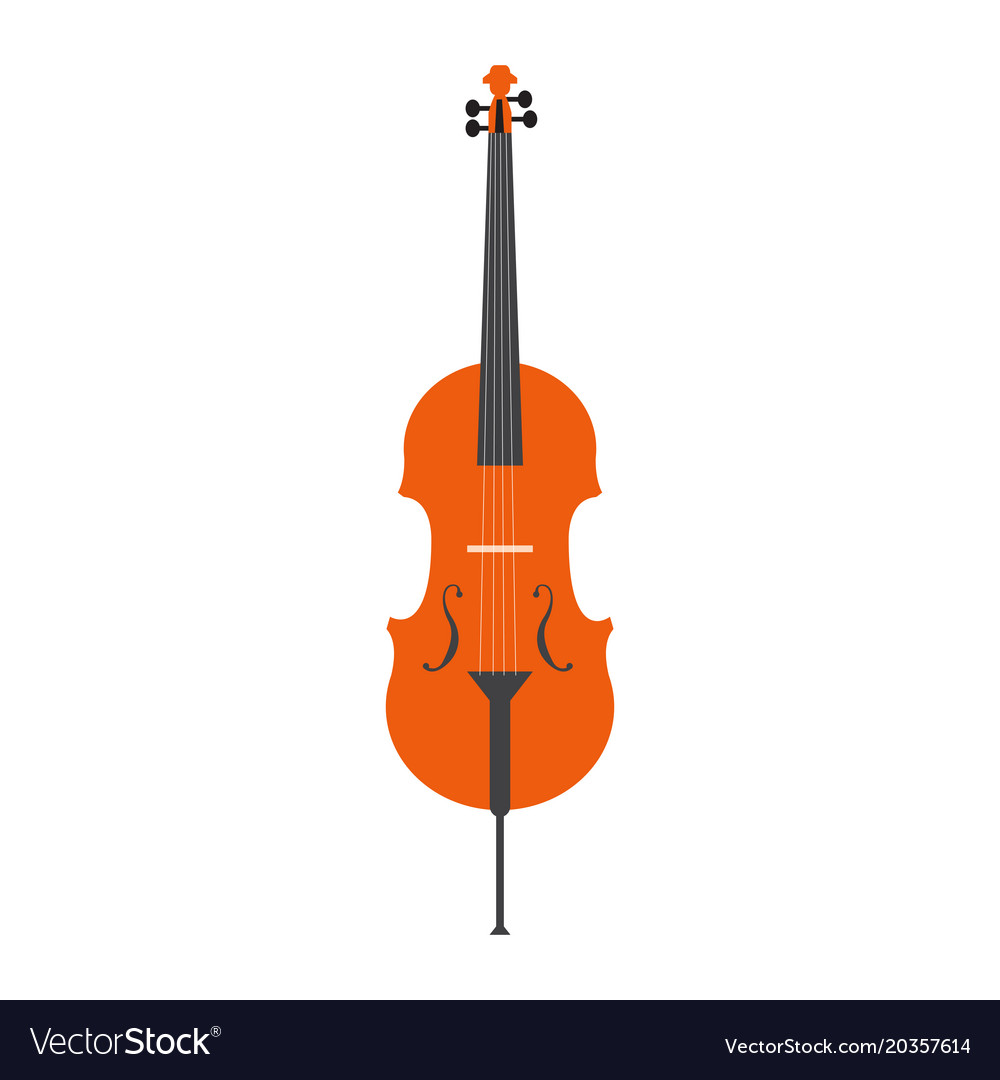 Isolated Cello Icon Musical Instrument Vector Image