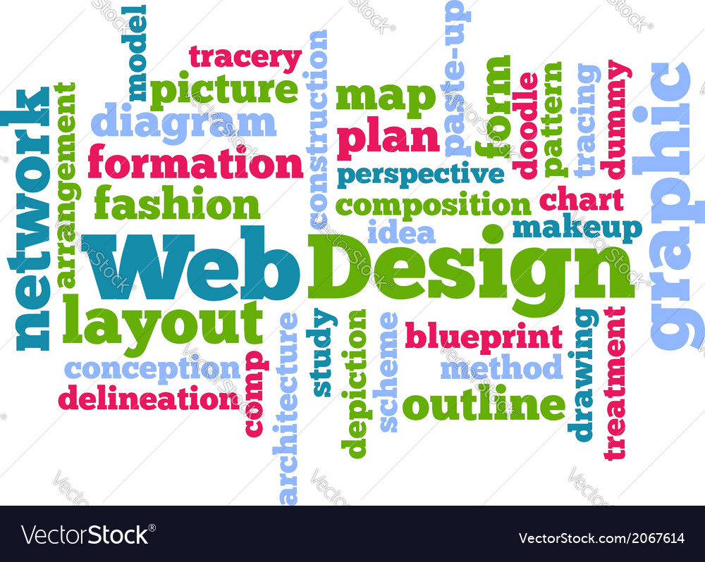 Web design tag word cloud background royalty free vector web design tag word cloud background vector image malvernweather Gallery