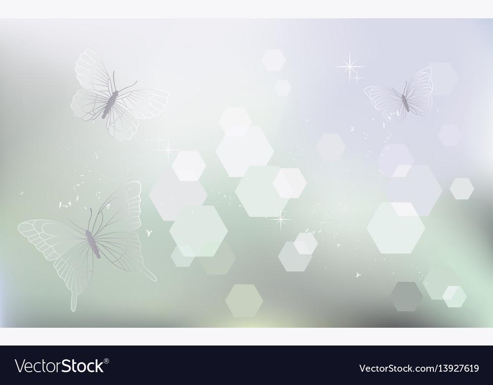 Desktop wallpaper background with butterflies vector image