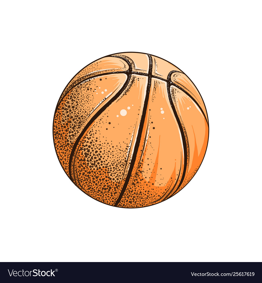 Drawing basketball ball in color