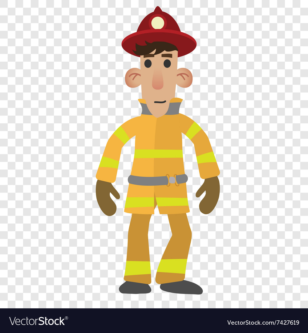 Firefighter cartoon character