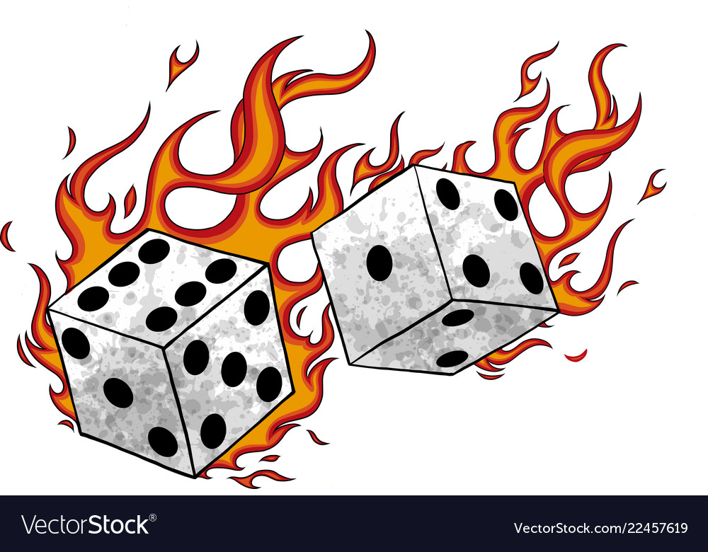 Game dices in fire and flames