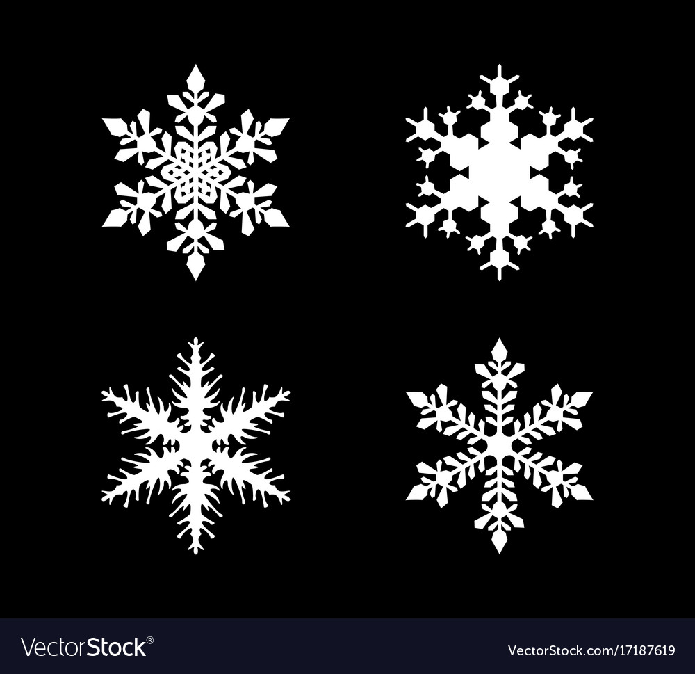Set of snowflake in modern style
