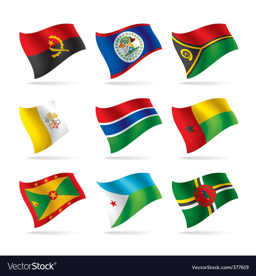 Set of world flags 11