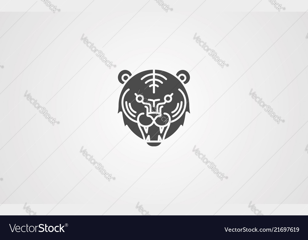 Tiger icon sign symbol