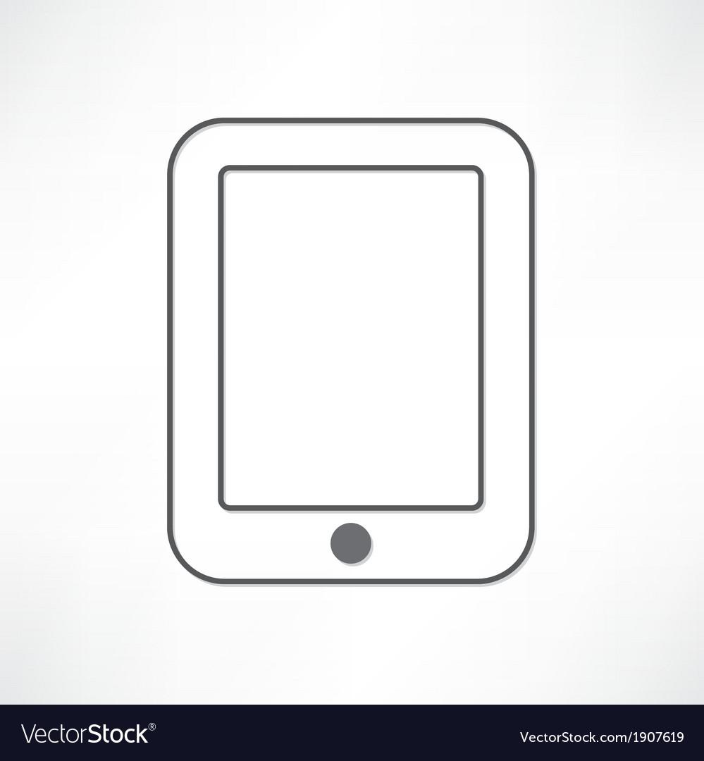 White ipad vector art - Download Blank vectors - 1907619