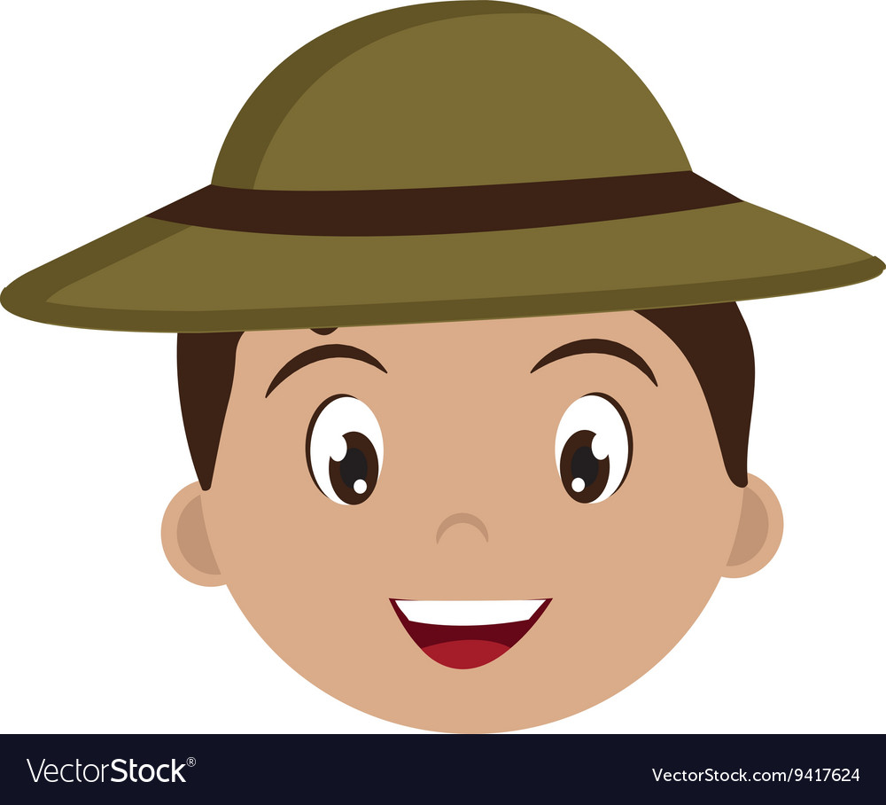 Avatar boy with green hat graphic