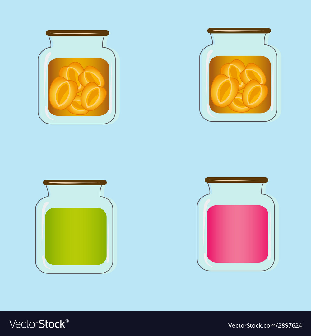 Bank with home canned peaches design