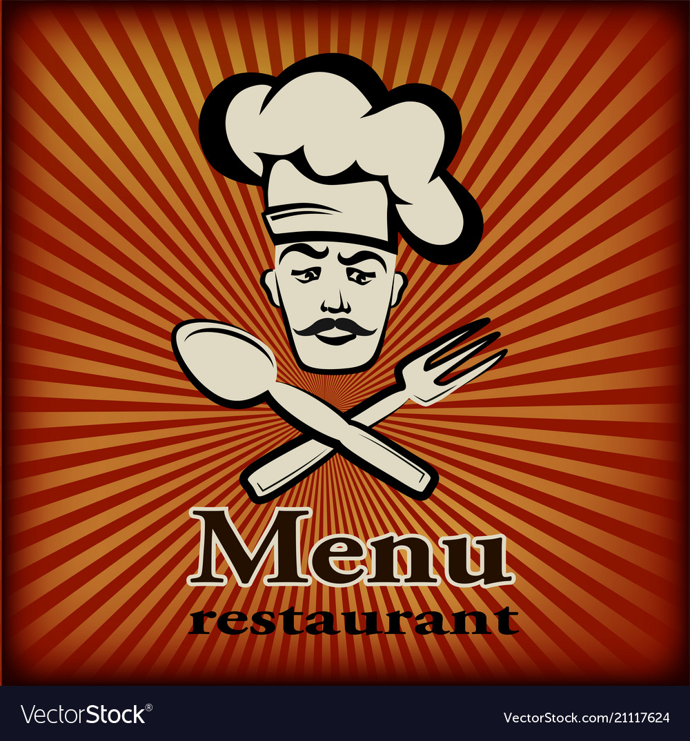 Banner for restaurant and cafe bar cook w