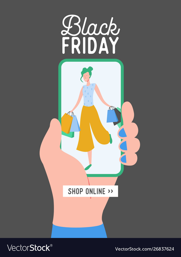 Black friday concept sale mobile app