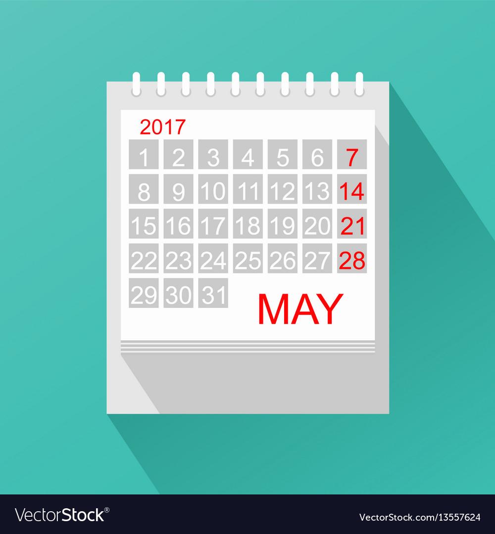 Calendar in flat style