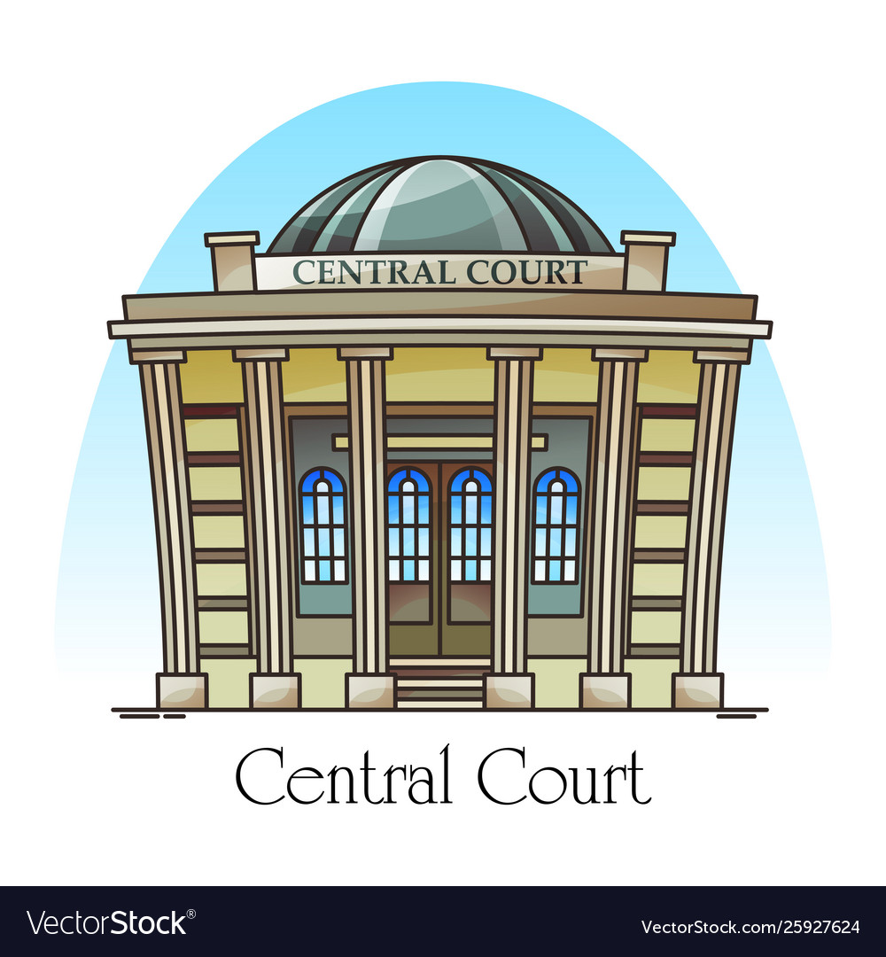 Courthouse front or facade central court building