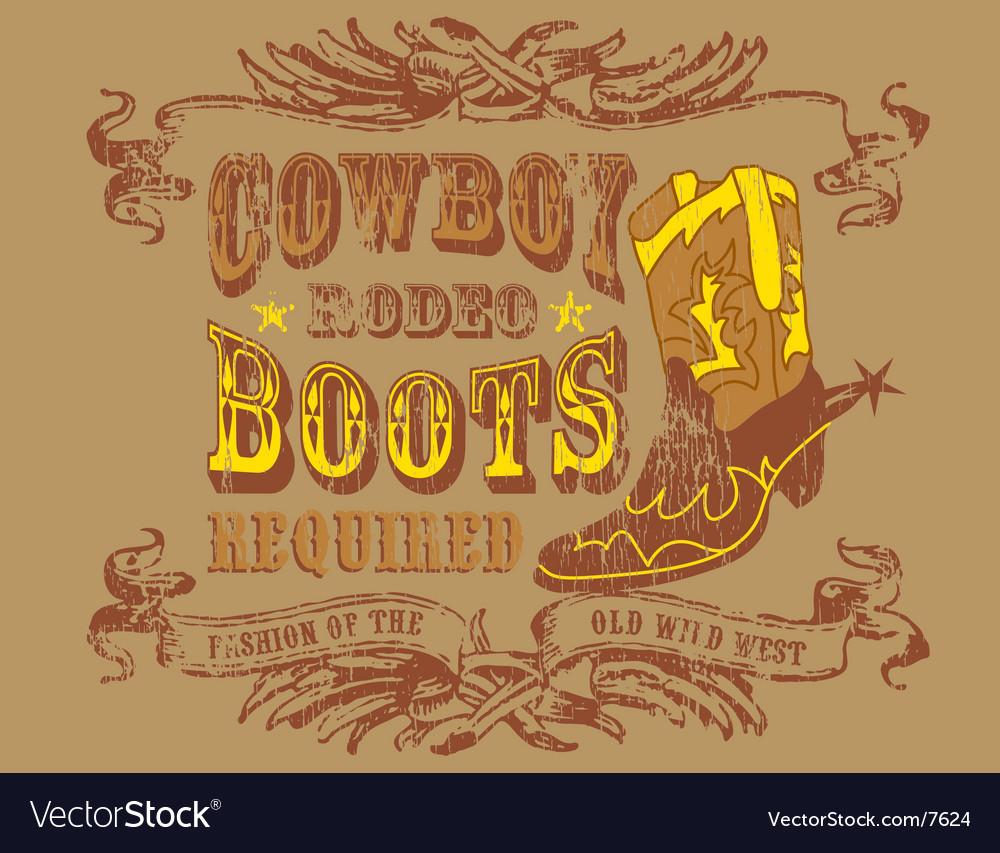Design cowboy vector image