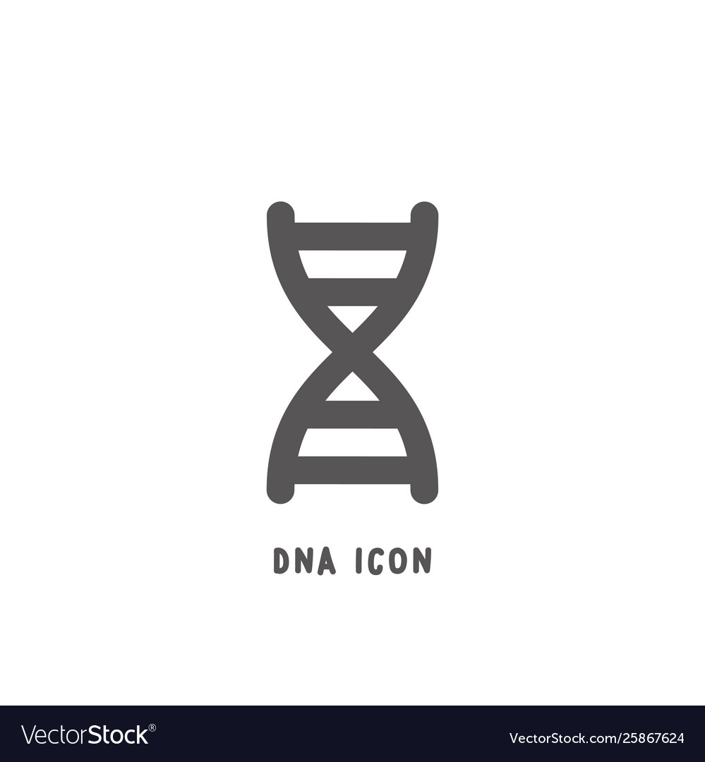 Dna icon simple flat style
