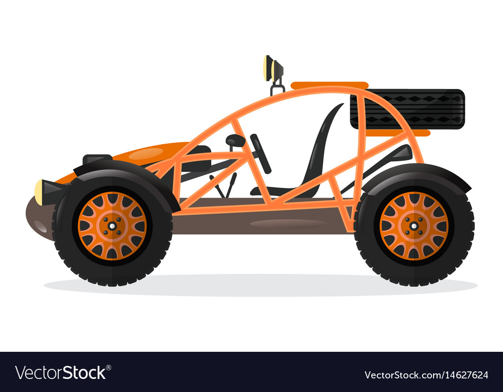 Dune buggy car design element Royalty Free Vector Image