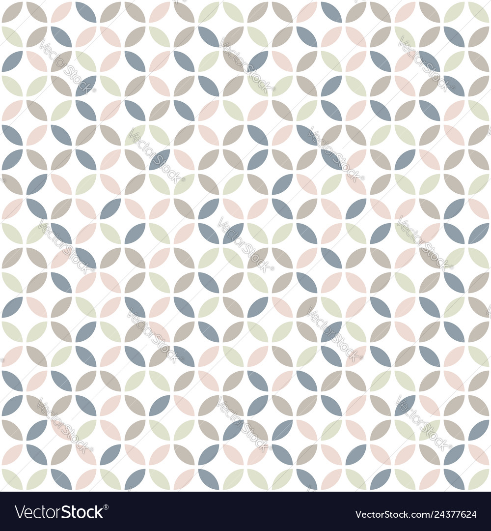Geometric seamless pattern in pastel colors mid