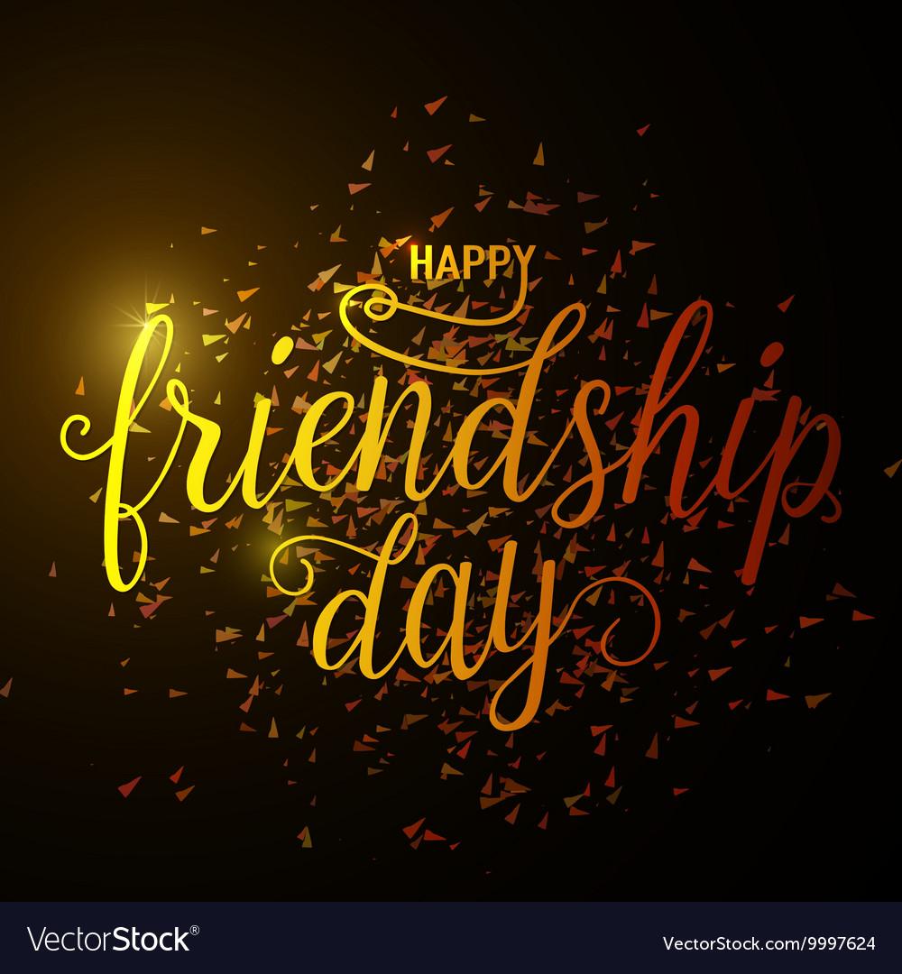Hand drawn happy friendship