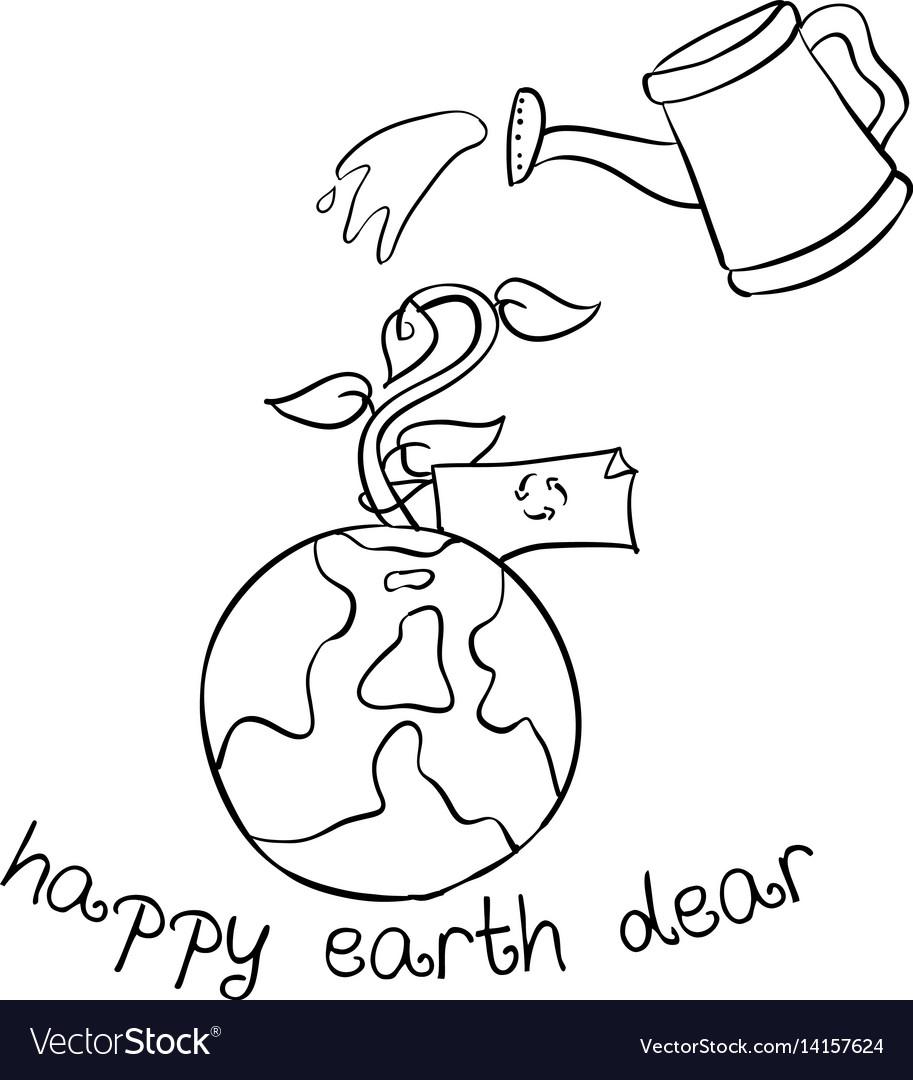 Happy Earth Day Hand Draw World