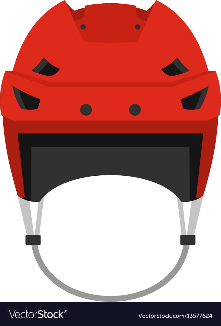 Hockey helmet icon flat style