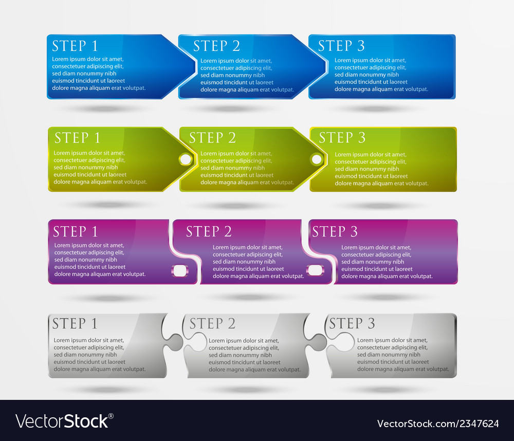 Horizontal vertical steps vector image