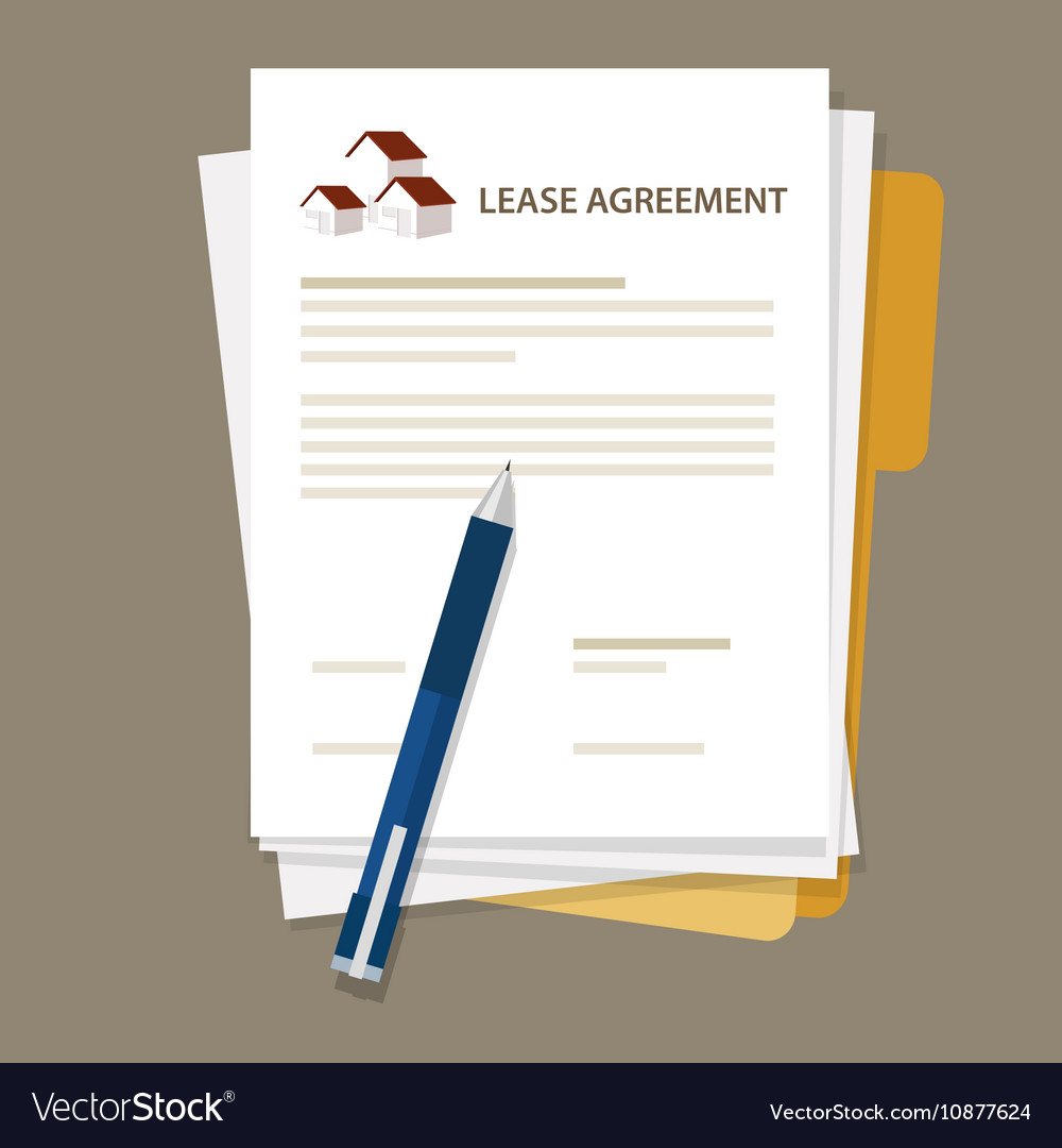 Lease agreement property house document paper pen