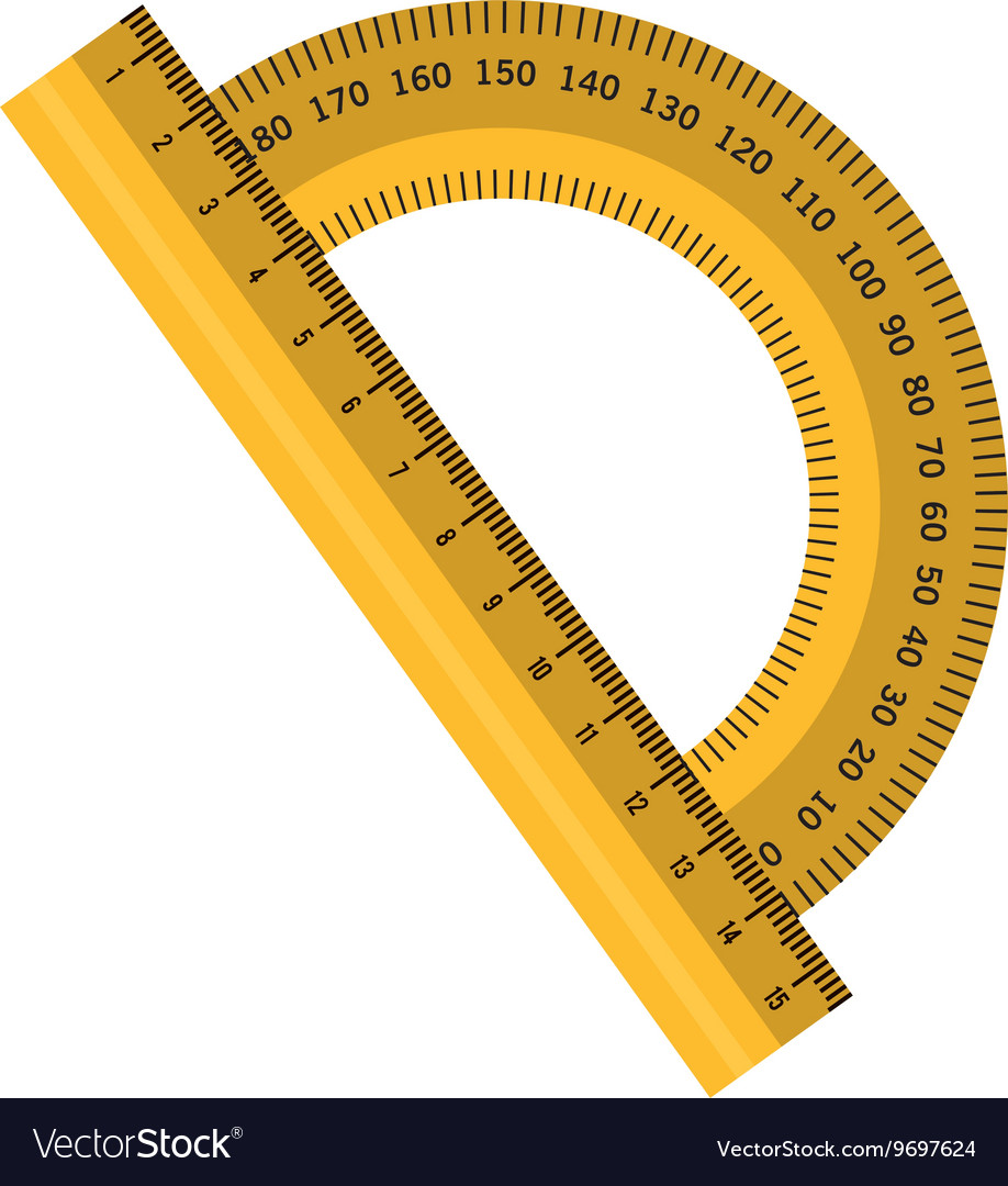 Measure ruler isolated flat icon