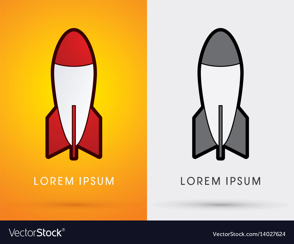 Missile rocket vector image