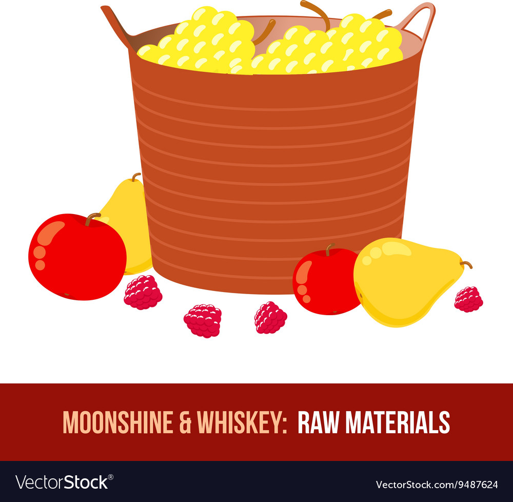 Moonshine and whiskey Harvest raw materials