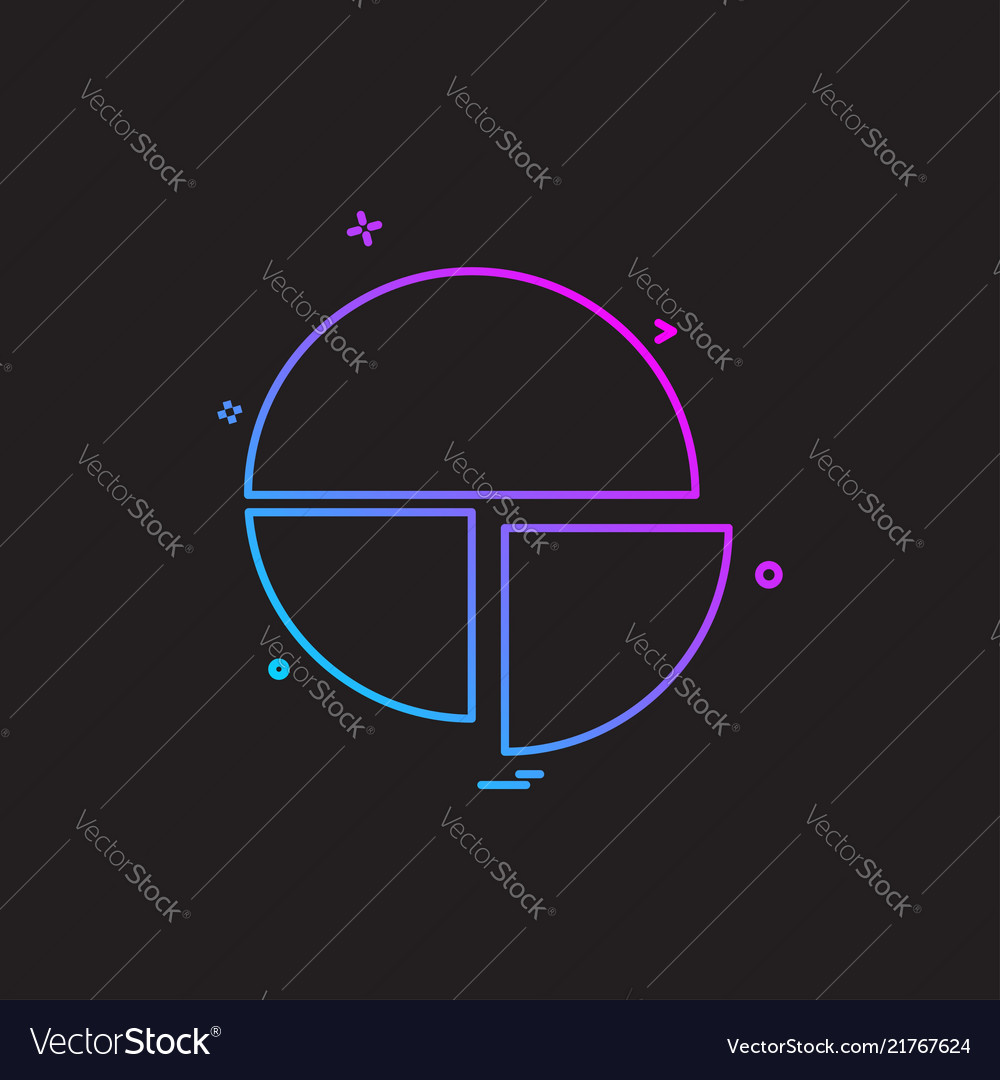 Pie chart icon design Royalty Free Vector Image