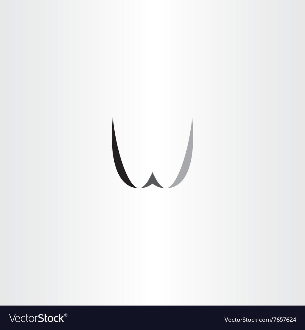 W letter black logo w