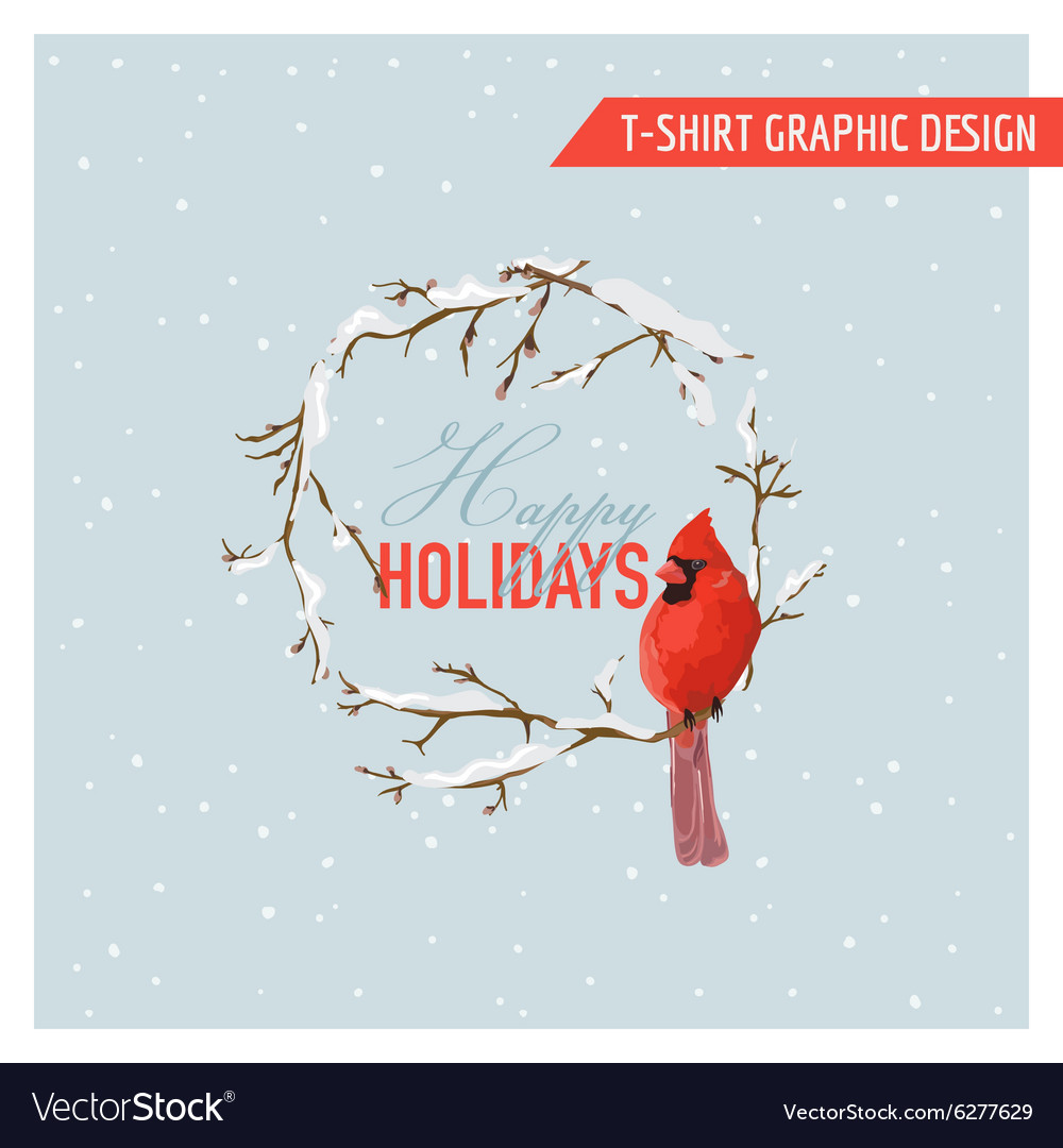 Christmas Winter Birds Graphic Design