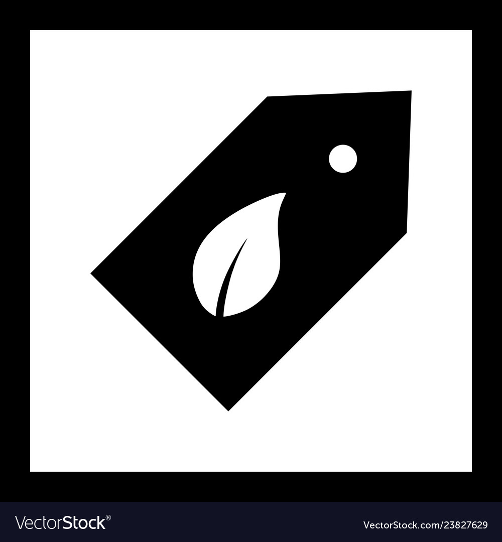 Eco label icon