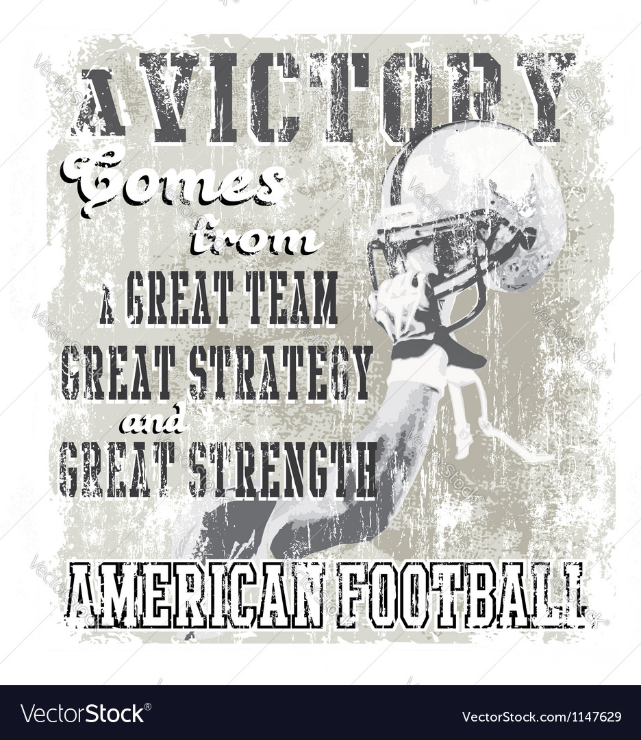 Football victory vector image