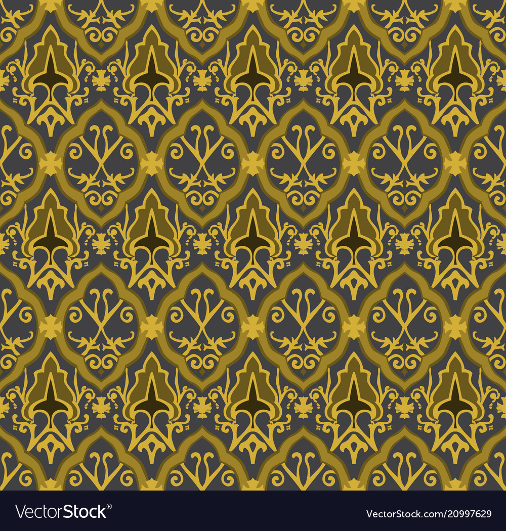 Gold royal pattern seamless background