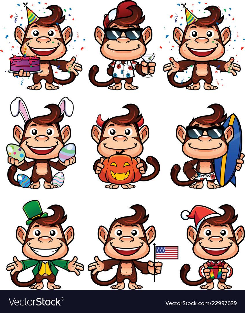 Monkey holiday set