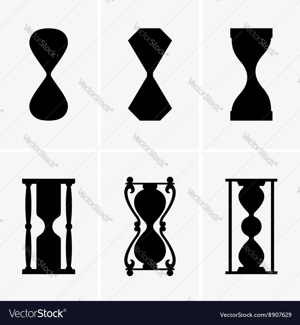 Sand clocks vector image