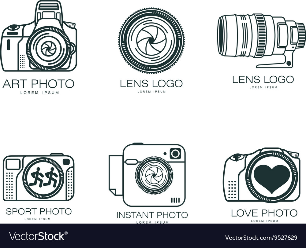 Set of logos with the camera