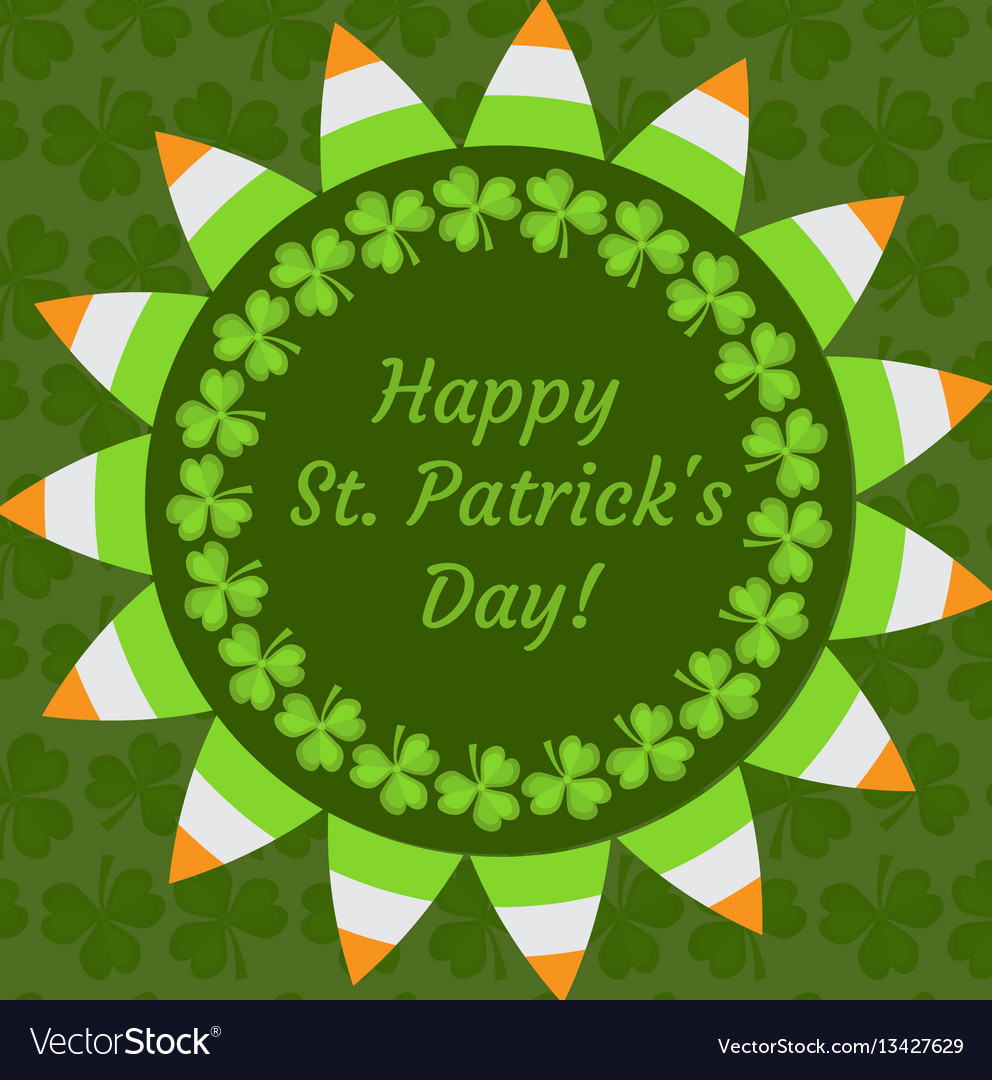 St patrick s day greeting card invitation
