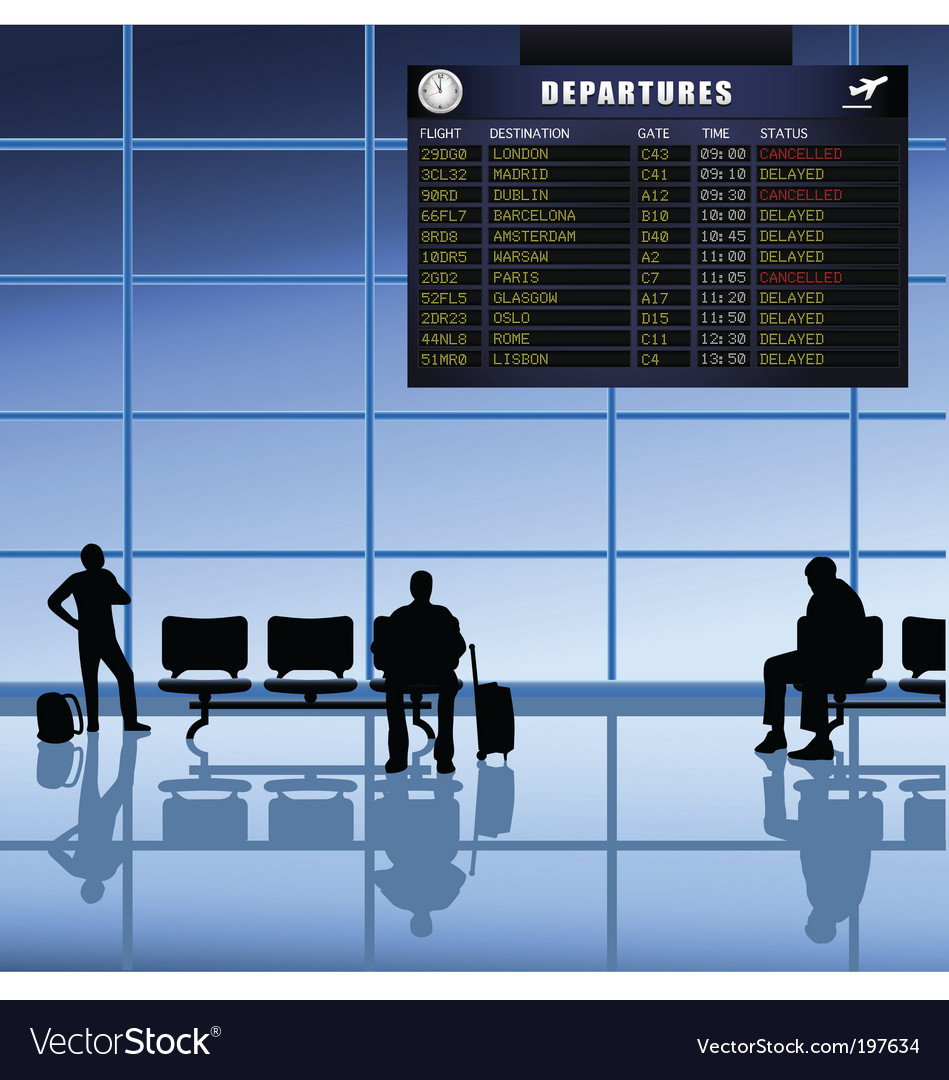 Airport set passengers vector image