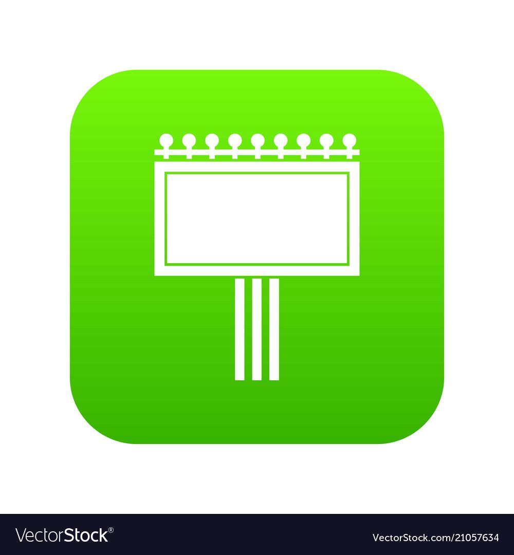Board for statistics icon digital green