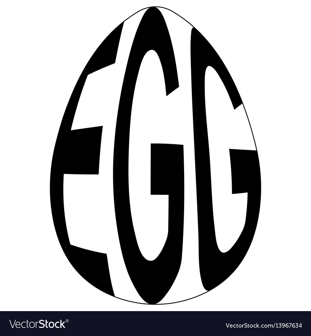 Chicken egg with text egg logo easte