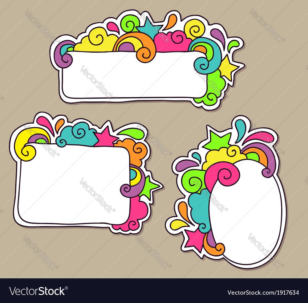 Frames funky Royalty Free Vector Image - VectorStock
