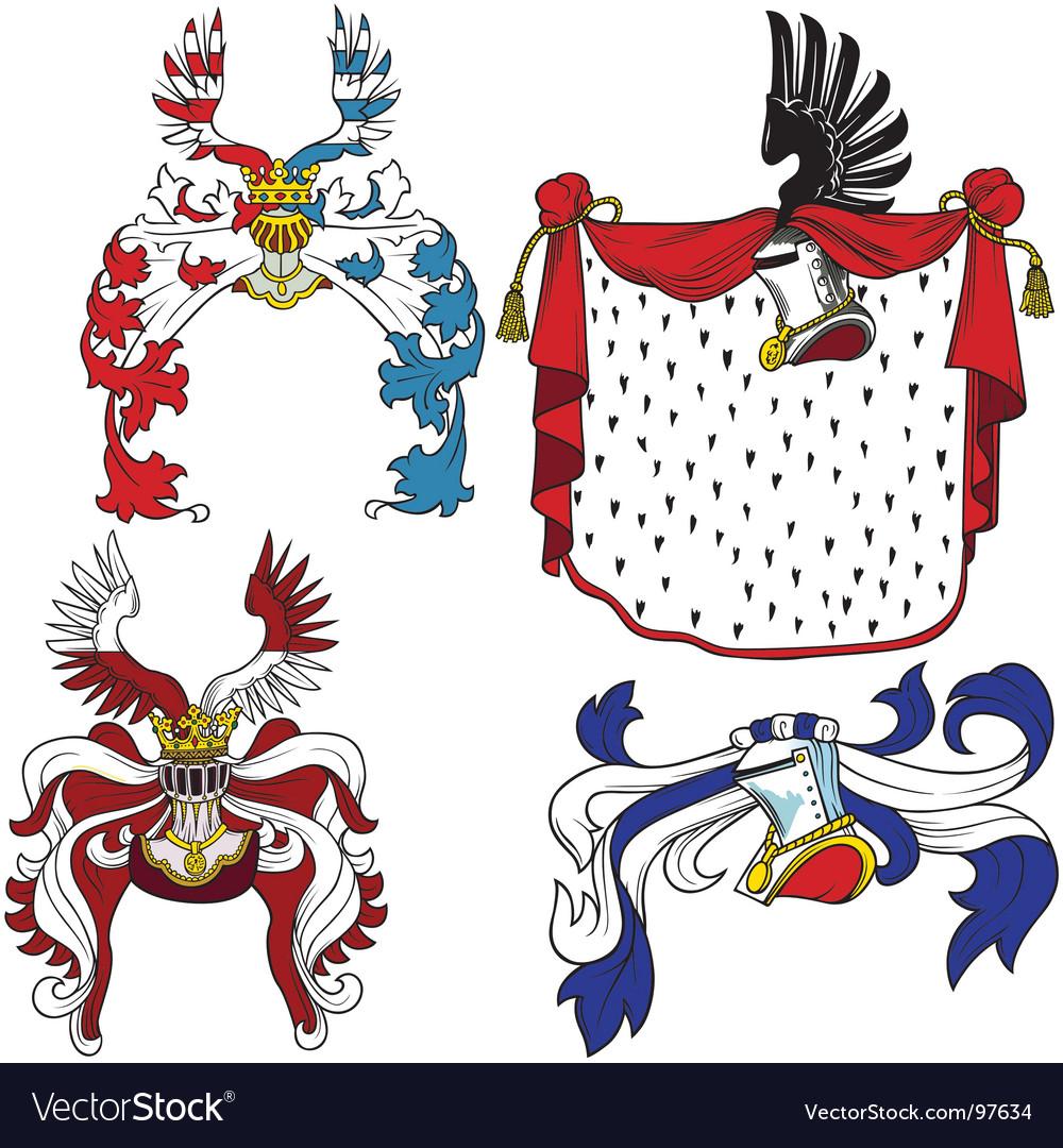 Heraldic helmets
