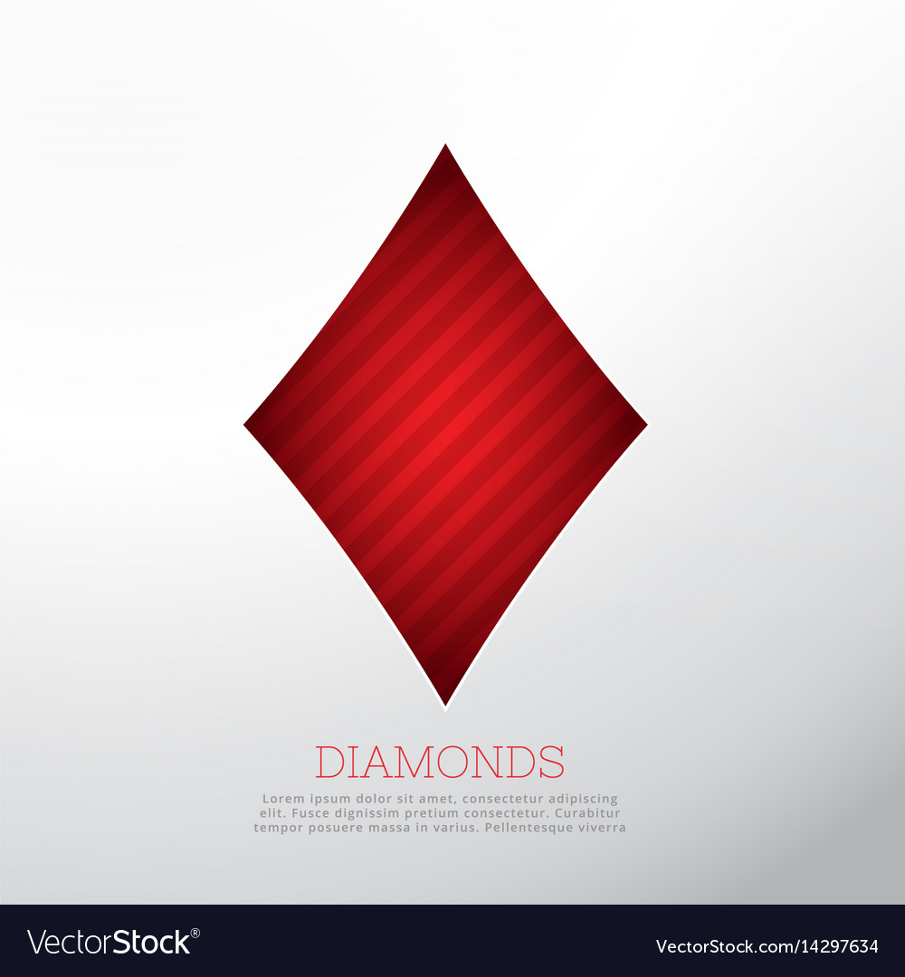 red diamond shape isolated on white background vector image